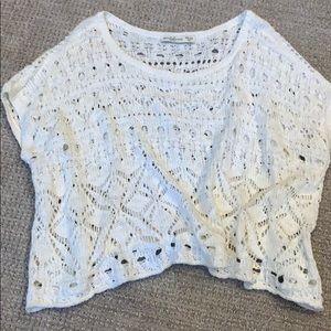 A&F crochet crop sweater